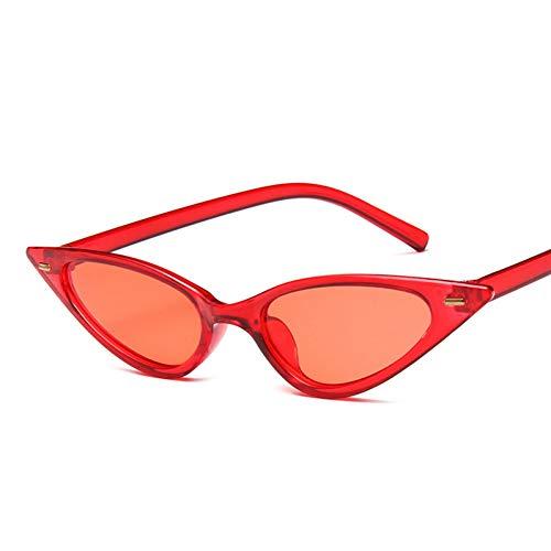 WZYMNTYJ Kleine Cat Eye Sonnenbrille Frauen Sexy Cute Niet Rot Schwarz Dreieck Cat Eye Sonnenbrille Für Männer Weibliche Brille