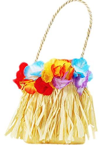 erdbeerclown- Damen Karnevalszubehör Tasche Hawaii, One Size, (Hawaiianische Kostüm Prinzessin)