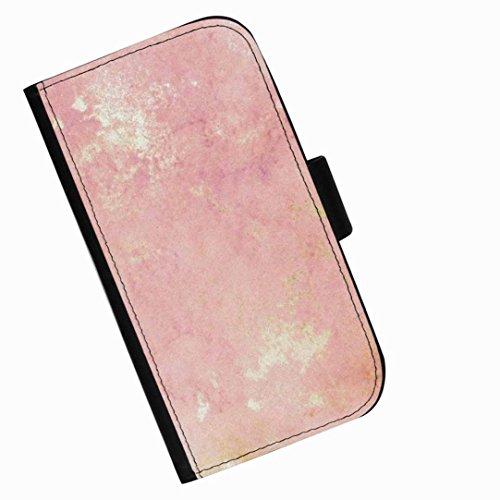 Hairyworm - Rosa Muster BlackBerry Leap Leder Klapphülle Etui Handy Tasche, Deckel mit Kartenfächern, Geldscheinfach und Magnetverschluss.