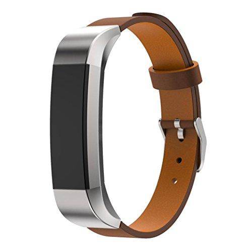 For Fitbit Alta, Ouneed ® Reemplazo de lujo banda de cuero genuino de la correa de pulsera para Fitbit perseguidor Alta