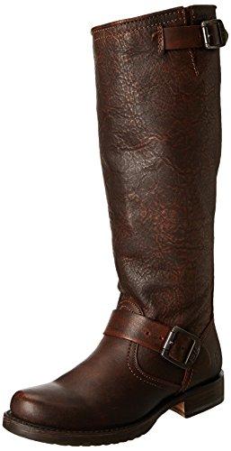 Frye Veronica Slouch Wide Calf Damen Rund Leder Mode-Knie hoch Stiefel Dark Brown