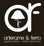 arterameferro Orologio Barocco da Tavolo in Ottone Lucido Mensola Stile Francese
