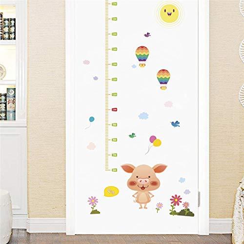 Cartoon-Wandaufkleber für Kinderzimmer Höhe messen Heißluft Ball Höhe Wachstum Chart Regel (Regel-chart)