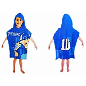 Lazytown Sportacus Blue Hooded Poncho Bath Beach Towel Official