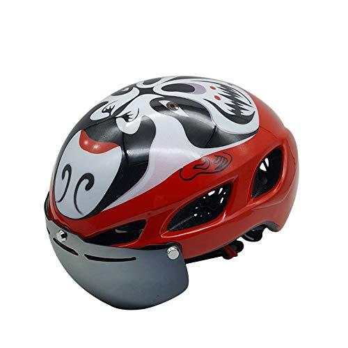 LEENY Sporthelme Radfahren Spezialhelme mit 2 Sonnenbrillen, Outdoors Sports Safety Verstellbarer Fahrradhelm mit Schild Visier, Unisex Kopfschutzhelm Helm für Fahrradfahren Racing