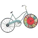 C-Cakus Vintage Wanduhr Eisen Wanduhren Fahrrad Wandtattoo Leise Küchenwanduhr Dekoration für Wohnzimmer Kinderzimmer Bar (farbig, 81 * 53cm)