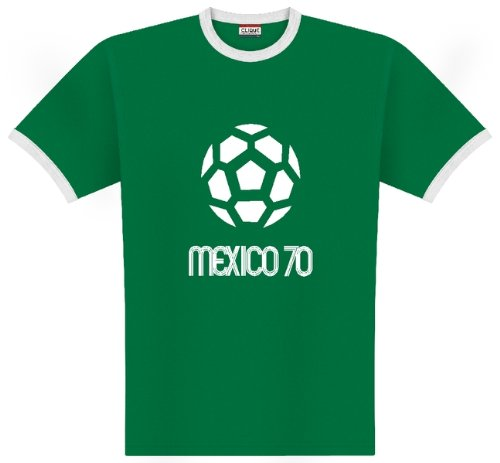 World of Football Ringer T-Shirt Mexico 1970 - XXL -