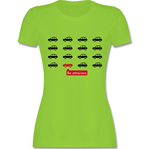 Statement Shirts - Be different. - Cabrio - tailliertes Premium T-Shirt mit Rundhalsausschnitt für Damen Hellgrün