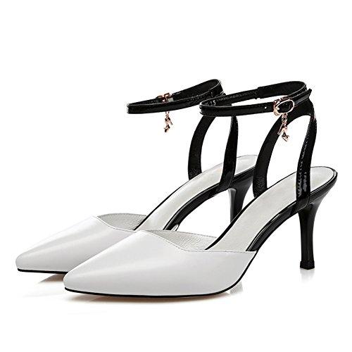 Chaussures d'été femme printemps/Fille sexy escarpins pointu/puis l'entrepreneur sandales/Chaussures femme A