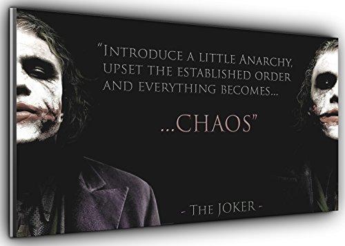 """Kunstdruck auf Leinwand, Motiv \""""Joker Chaos Batman Dark Knight\"""", Panorama-Leinwandkunst, gerahmt, XXL 139,7 x 61 cm, über 11,4 cm breit x 61 cm hoch, kann sofort aufgehängt Werden."""