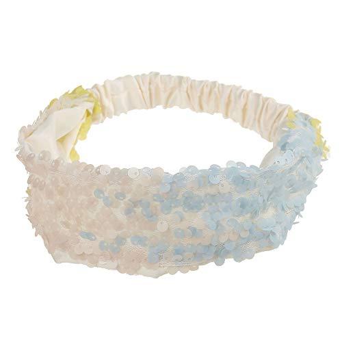 LUGOW Pailletten Yoga Stirnbänder für Frauen Elastic Run Head Wrap Breites Haarband Haarschmuck Haarband Headwraps Zubehör Hairbeads Haarreife Haargummis Haarschmuck(I)
