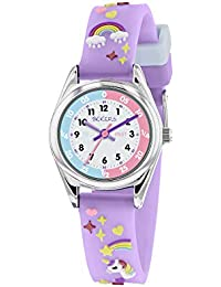 Tikkers Girls Analogue Classic Quartz Watch with Textile Strap TK0145