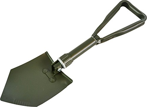 normani EXTRA STABIL - BW Klappspaten mit Tasche, vglb. Bundeswehr/US Army Militär Schaufel/Feldspaten/Spaten aus Metall/Stahl - Ideal für Outdoor, Camping, Survival und Jagd