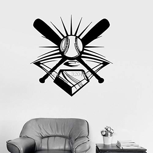 Njuxcnhg 3D Vinyl Wandtattoos Baseball Sport Decor für Männer Sport Fan Garage Wandaufkleber Steuern Dekor Wohnzimmer Selbstklebende 42X42 cm