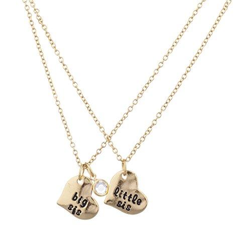 lux-accessori-oro-big-sis-little-sis-cuore-ciondolo-collana-set-2pezzi