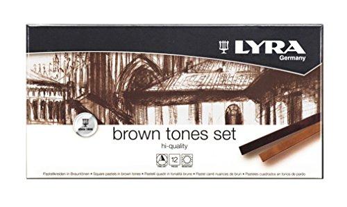Lyra 5641121 Tones Pastellkreiden, braun, 17,4 x 9,0 x 2,0 cm