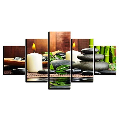 Malerei,HD Inkjet Musik Restaurant Kunst Kombination Kunst Malerei Stein Kerze Wandhaupt Malerei D 30x40cmx2 30x60cmx2 30x80cmx1 ()