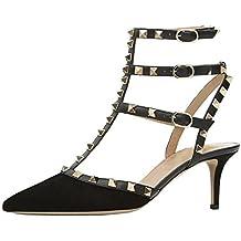 Lutalica Stivaletti da Donna con Cinturino alla Caviglia con Fibbia Scarpe  a Stiletto con Cinturino e f72d7055ee0