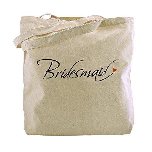 (ElegantPark Bridesmaid Natur Segeltuch 100% Baumwolltasche Beutel mittlere Hochzeits Bevorzugungs Geschenk Beutel Handtasche 1 Stück)