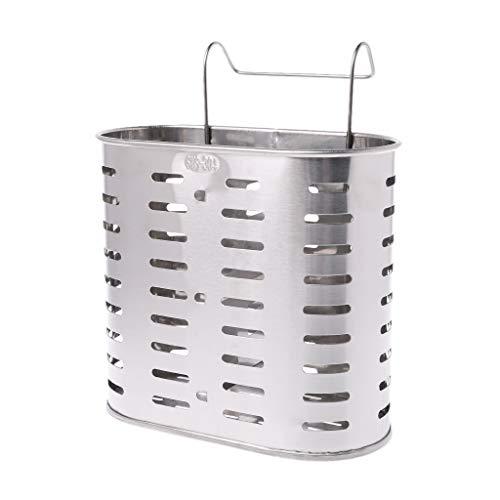 Lamdoo Acero Inoxidable Cubiertos Tenedor Escurridor Cuchara Tenedor Palillos Organizador Estante Gancho Herramientas de Cocina