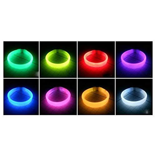 Luminous Bracelet - Konzertunterstützung Luminous Bracelet Leuchtendes Licht Stab Bar Night Run Einmaliges dreifaches Fluoreszierendes Armband (Color : White)
