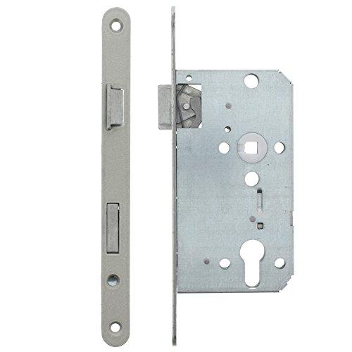 ToniTec Einsteckschloss Profilzylinder links für Zimmertür Falle + Riegel