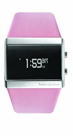 Black Dice 'Mixtape' Unisex Organic LED Pink Leather Strap Watch