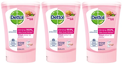 Dettol Savon Recharge pour No Touch Karité 250 ml - Lot de 3