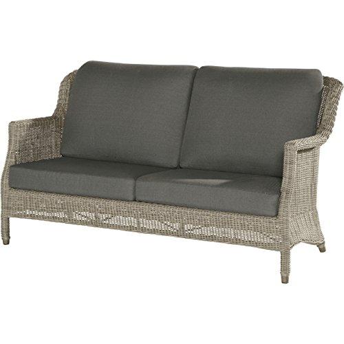 4Seasons Outdoor Del Mar 2.5 Sitzer Sofa Polyrattan Pure Loungesofa inkl Kissen