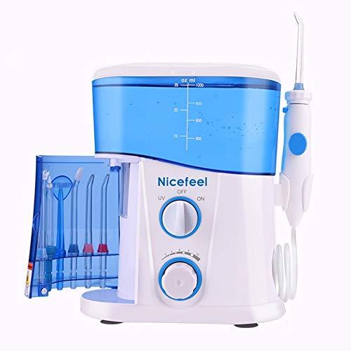 QAZ Wasser Flosser Dental Munddusche Zahnreiniger Pick Spa Zahnpflege sauber mit 7 multifunktionalen Tipps für die Familie,White
