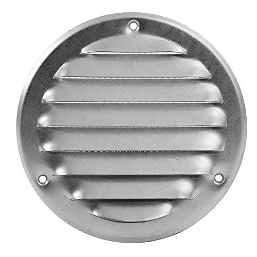 Lüftungsgitter Metall Insektenschutz Abluft Zuluft Rund Wetterschutz Lamellen Ø 100 mm Edelstahl - Metall-lamelle