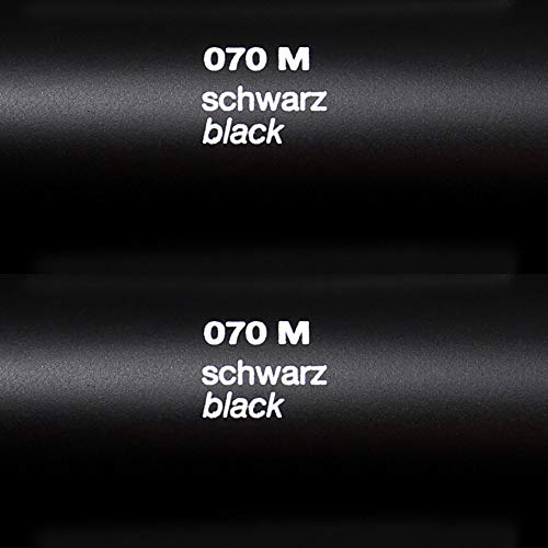 Oracal 631 FOLIEN SET – 070 Schwarz – Klebefolie – 5m x 63cm – Folie Matt – Moebelfolie – Plotterfolie – Selbstklebend (Folien Set inkl. Rapid Teck® Montage Rakel) - 2