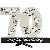 18. 30. 40. 50. Geburtstag individuelles Gästebuch Geburtstagszahl zum Beschriften, alle Gäste verewigen sich auf der Party (70)