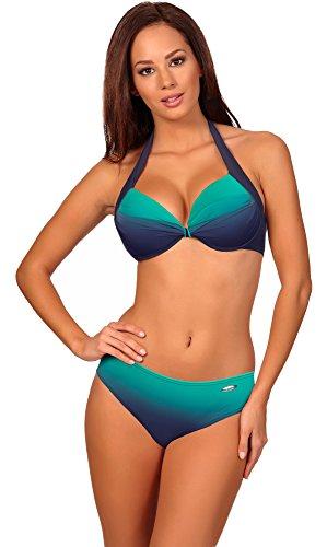 Kostüme 20 Top (Aquarilla Bikini Barbados Navy/Minze DE 44 (IT)