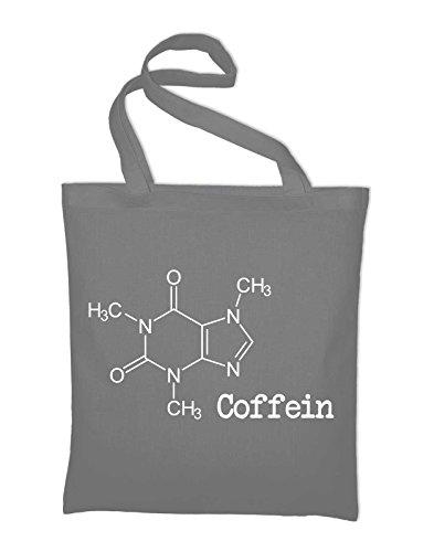 Caffeina Caffè Strutturale Formula Sacchetto Di Juta, Borsa, Borsa Di Stoffa, Sacchetto Di Cotone, Nero Grigio Chiaro