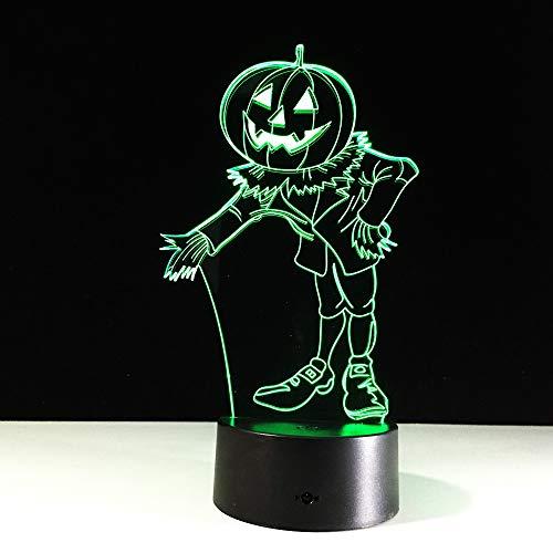 YDBDB Nachtlicht Halloween Kostüme Kürbisse 3D Acryl Visuelle Led Usb Schreibtisch Tischlampe Für Hauptatmosphäre Lampe Baby Schlaf Beleuchtung (5 Familie Für Halloween-kostüme)