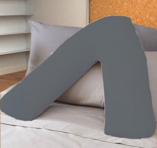 ||jaaz textile|| _ _ gris Color _ _ V forma de almohada casos de percal calidad apoyo...
