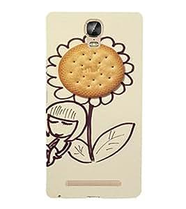 EPICCASE Biscuit on flower Mobile Back Case Cover For Gionee Marathon M5 Plus (Designer Case)