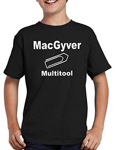 Touchlines Merchandise TLM MacGyvers Multitool T-Shirt Kinder 98/104 Schwarz