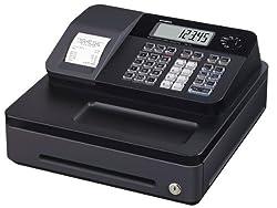Casio SE-G1SB Registrierkasse mit kleiner Geldlade, Thermodruck Kundenanzeige, schwarz - Für Deutschland und Österreich nicht geeignet