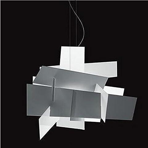 Lustre moderne Creative Fashion Propeller Stacking Acrylique White Ceiling Pendant Light pour salon Restaurant Hôtel Bar Front Desk