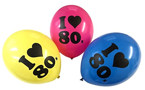 I Love 80s Slogan Party Balloons x 3, 6 or 12