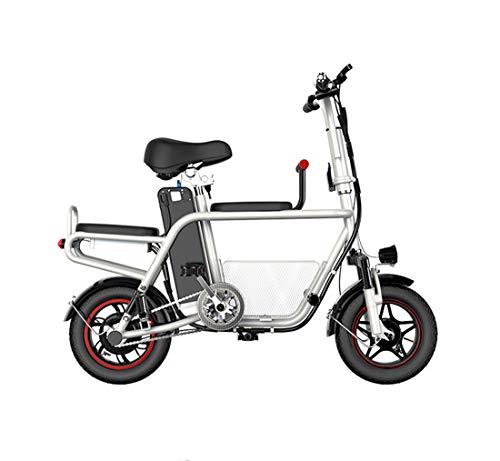 Creing Elektrischer Roller E-Scooter Mit Sitz Power Scooter Elektroroller StraßEnzulassung Cityroller 25Km/h,White