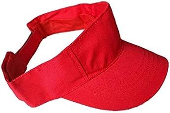 starstep Boys/Girls Stylish Plain Cotton Tennis/Golf sunvisor Cap/hat (red)