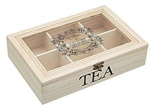 Kitchen craft le'xpress boîte à thé en bois