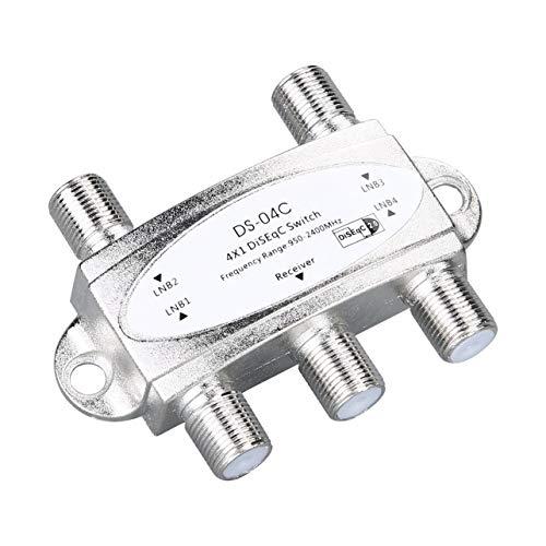 WOSOSYEYO 4 1 4 x 1 DiSEqc 4 vías Banda Ancha Interruptor