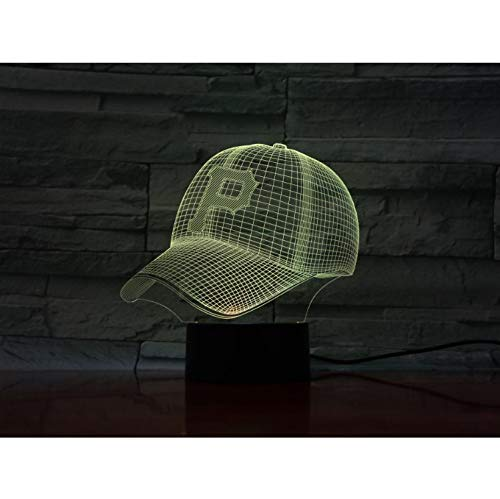 Led-Lampe Nacht Pittsburgh Pirates Baseball Cup Touch Sensor Rbg 7 Farbwechsel Kinder Kinder Geschenk Usb Nachtlicht Dekor 3D - Pittsburgh Pirates-cup