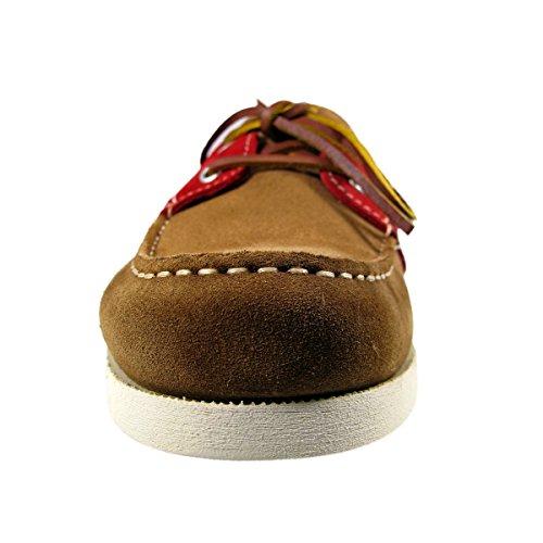 TBS Phenis, Chaussures bateau homme cognac/rouge