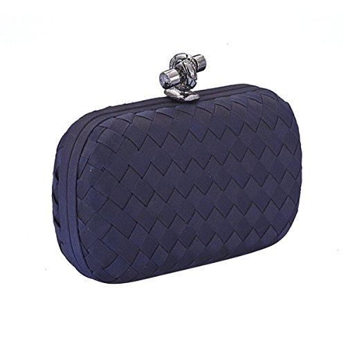Mini Schnalle Handtasche Mode Abendtasche Kleid Bankett Pack,Blue Blue