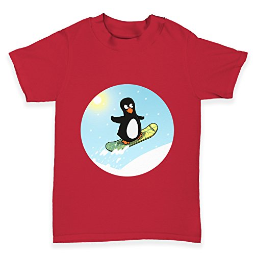 TWISTED ENVY Baby T-Shirt Snowboard Guin The Penguin Print 3-6 Months Rot